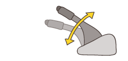 ①パーキングブレーキレバー(ペダル)の引きしろ(踏みしろ)イメージ