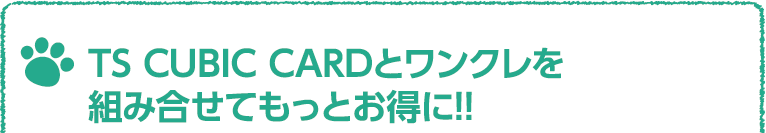 TS CUBIC CARDとワンクレを組み合わせてもっとお得に!!